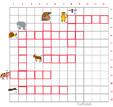 Imprimer la grille de mots croisés animaux grille 6 pour cycle 2