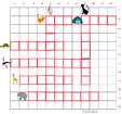 Imprimer la grille de mots croisés animaux grille 7 pour cycle 2