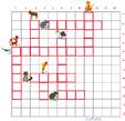 Imprimer la grille de mots croisés animaux grille 8 pour cycle 2