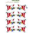 Guirlande Père Noël à imprimer