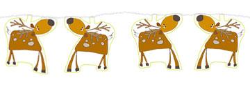 Guirlande de rennes de Noël