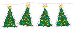 Guirlande sapins de Noël
