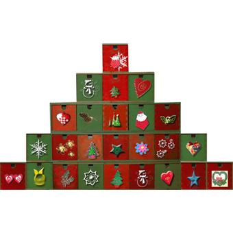 Calendrier de l'Avent pyramide décoré