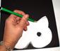 reproduire le chat sur le papier noir