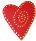 Coeur rouge et or