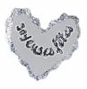 coeur en papier décoré