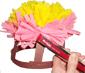 agrafer 2 rangs de plumets roses