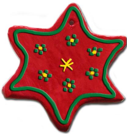 Décorations de Noël en argile peintes et vernies