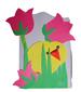 collage fleur poussin