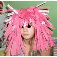 Perruque déguisement rose