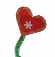 décoration du coeur avec des paillettes