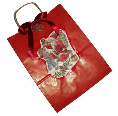 Décoration d'un sac à cadeau de Noël