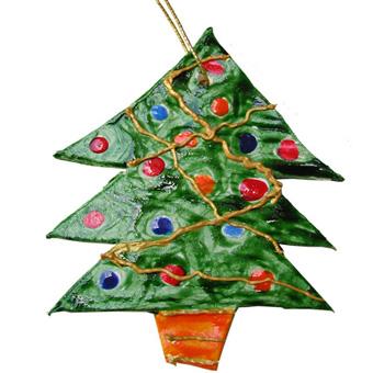 Décoration sapin de Noël en argile