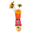 Vase peint en pot de petits suisses