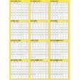 calendrier jaune 2010
