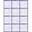 calendrier violet