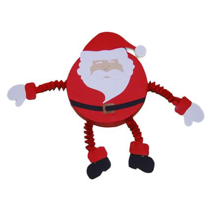 Père Noël papier et boite ronde