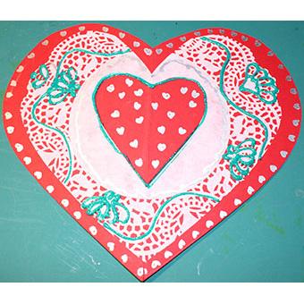 carte coeur saint valentin bricolage saint valentin t te modeler. Black Bedroom Furniture Sets. Home Design Ideas