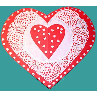 Carte coeur saint valentin bricolage saint valentin t te modeler - Coeur de st valentin a imprimer ...
