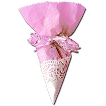 Cornet à dragée rose pour les filles