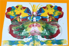 Joli papillon peint