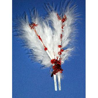 barrette à cheveux plumes