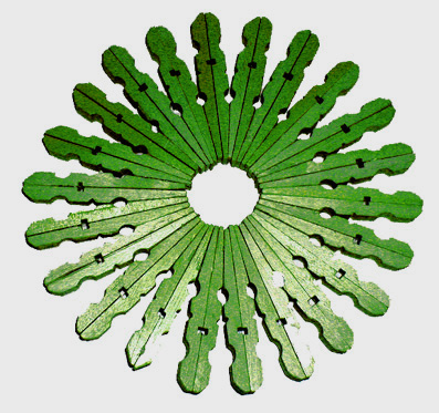 Dessous-de-plat Noël vert en pinces à linge