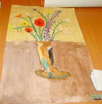 Peindre un vase fleur à la manière de Redon