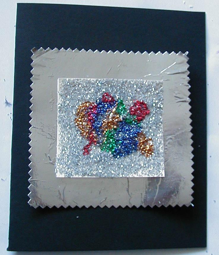Cartes de voeux motif paillettes