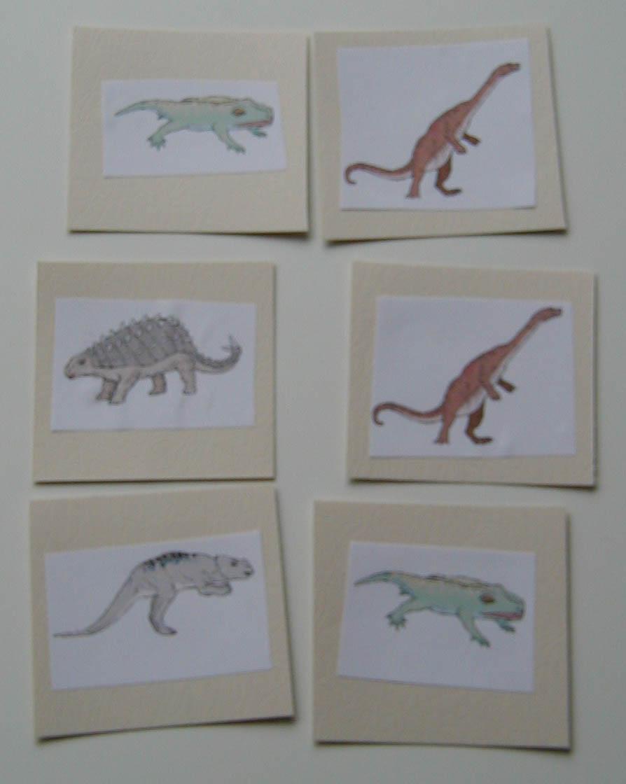 Mémory sur les dinosaures - jeu de mémoire