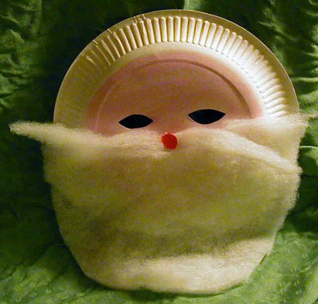 Masque de p re no l noel t te modeler - Comment faire un masque en papier ...