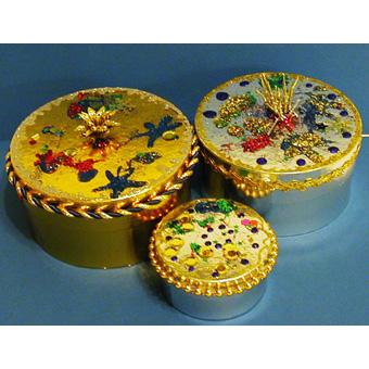 boite décorées de paillettes