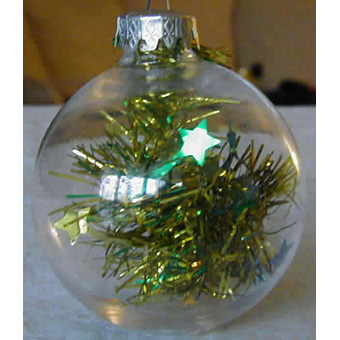 Boules de Noël en plastique transparent