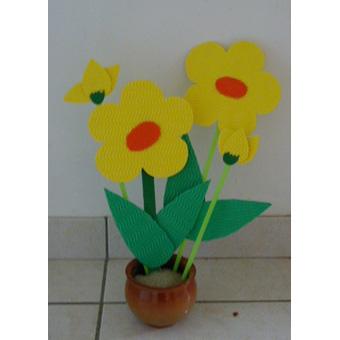 Pot de grosses fleurs