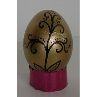 Oeuf de Pâques décoré de motifs d'europe centrale