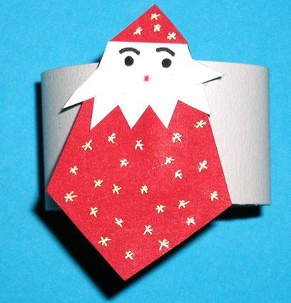 Anneau de serviette Petit Père Noël rouge