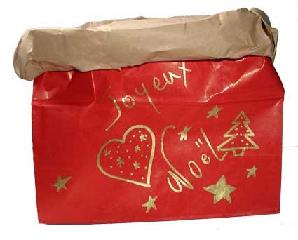 Préparer le sac dy calendrier de Noël