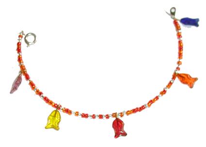 Bracelet poisson et perles de rocailles