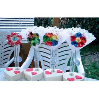 Vase décoré 1 fleur