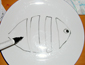 dessiner le poisson sur l'assiette