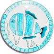 Peinture sur porcelaine : assiette poisson