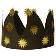 Couronne noire et or pour les rois