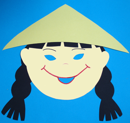 fille chinoise, masque fille chinoise