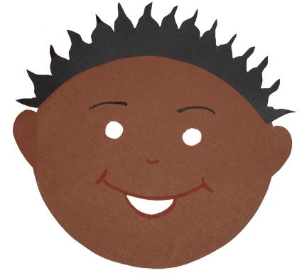 Masque enfant africain