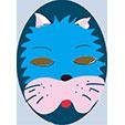 Masque de chat bleu