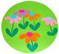Collage des fleurs