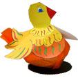 Fabriquer une poule de Pâques décorative pour offrir des oeufs ou des chocolats