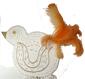 queue à plume de la poule