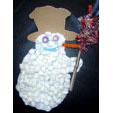 Réalisation d'un tableau avec un bonhomme de neige