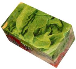 coffret décoré de salade